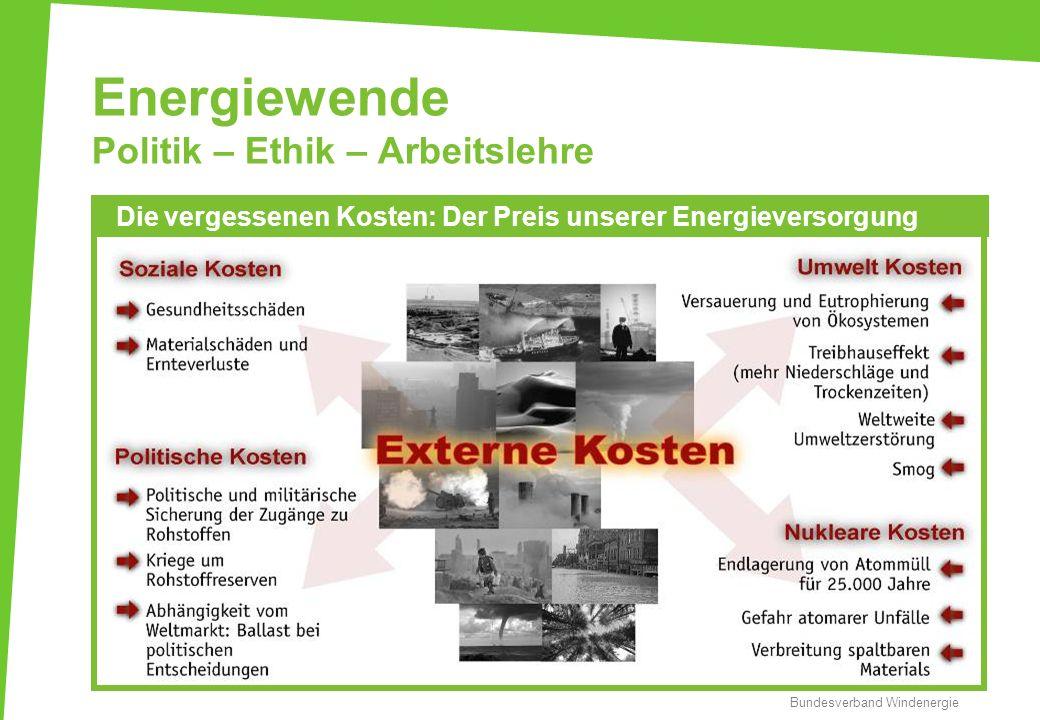 Energiewende Politik – Ethik – Arbeitslehre