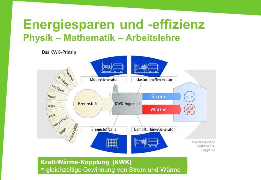 Energiesparen und -effizienz Physik – Mathematik – Arbeitslehre