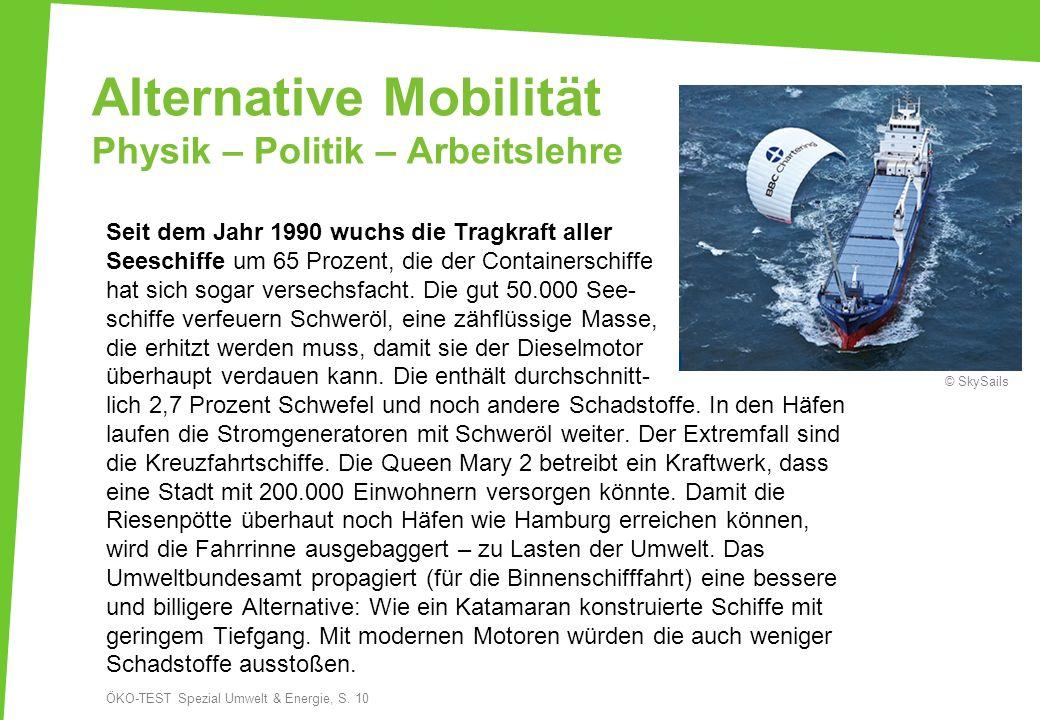 Alternative Mobilität Physik – Politik – Arbeitslehre