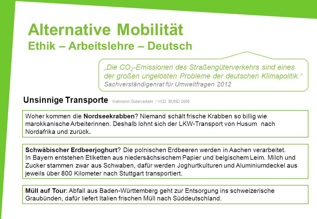 Alternative Mobilität Ethik – Arbeitslehre – Deutsch