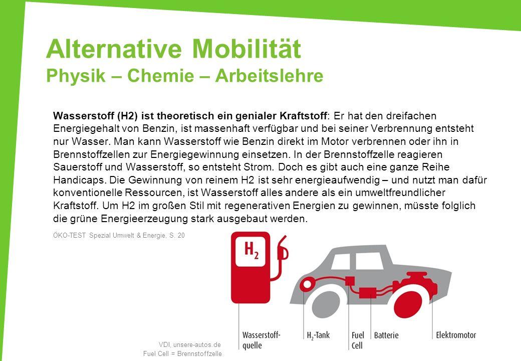 Alternative Mobilität Physik – Chemie – Arbeitslehre