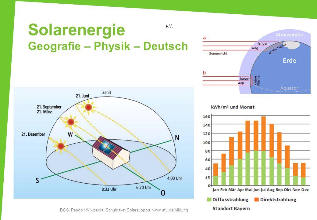 Solarenergie Geografie – Physik – Deutsch