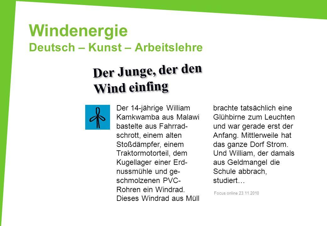 Windenergie Deutsch – Kunst – Arbeitslehre