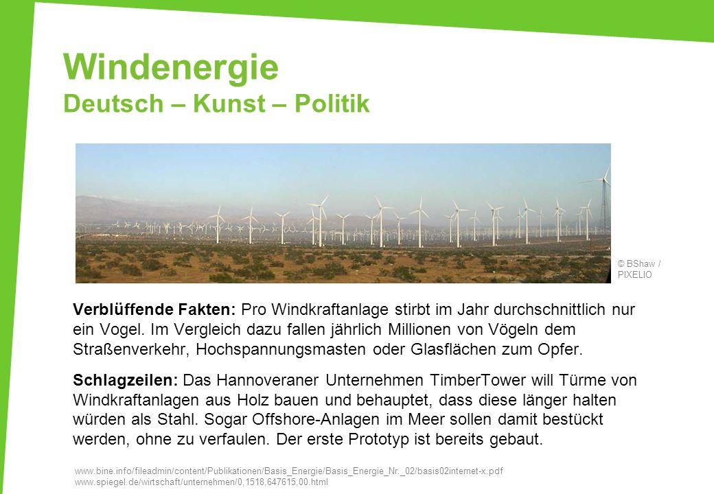Windenergie Deutsch – Kunst – Politik