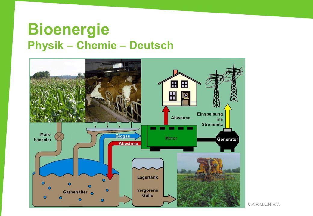 Bioenergie Physik – Chemie – Deutsch