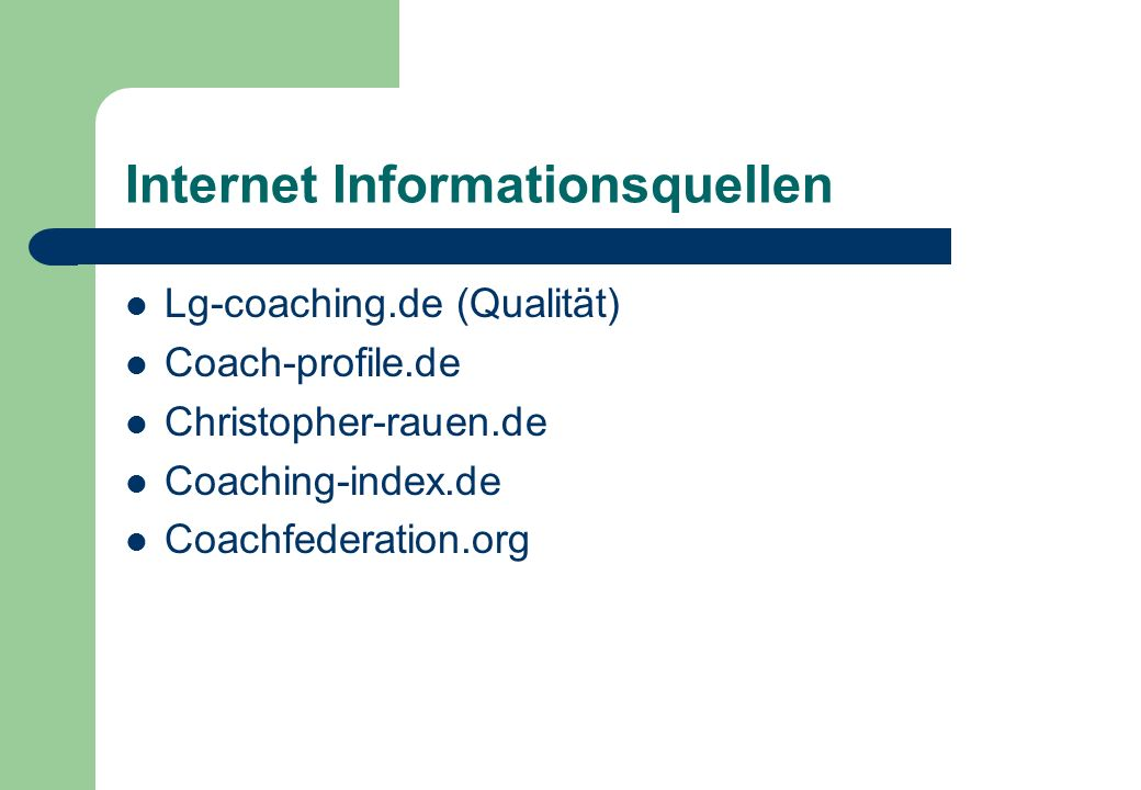 Internet Informationsquellen