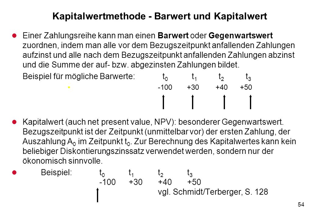 Prof dr joachim buch investitionsrechnung ppt for Auflagerberechnung beispiel