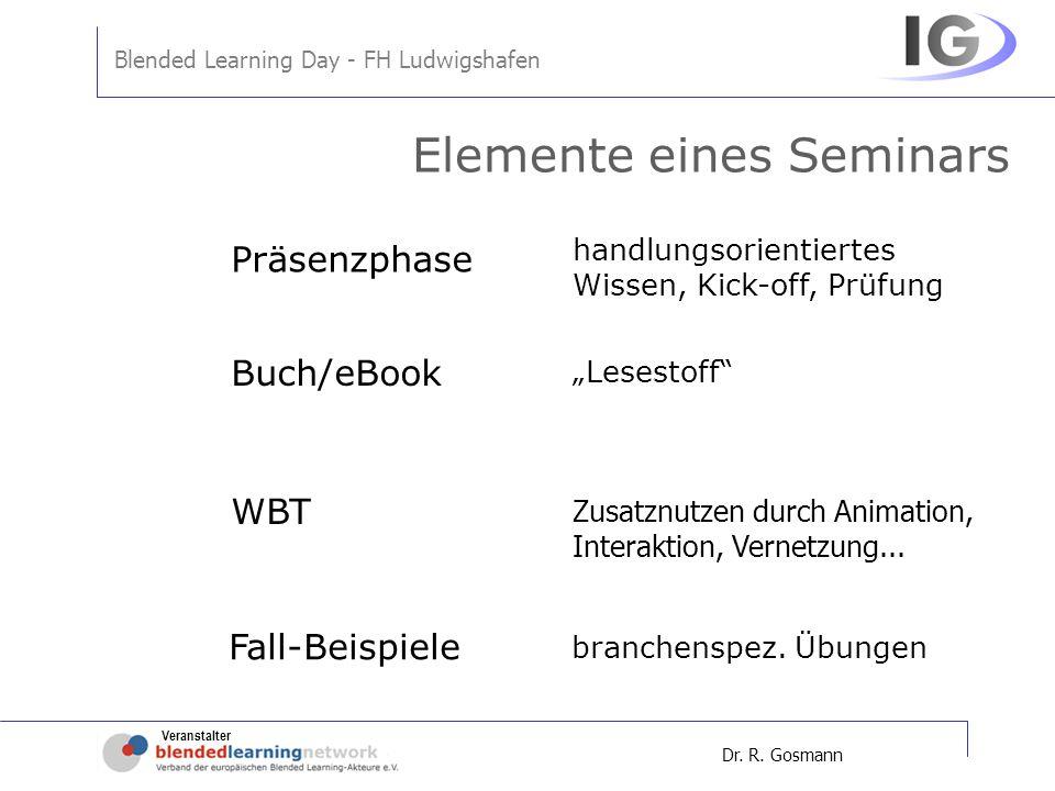 Elemente eines Seminars