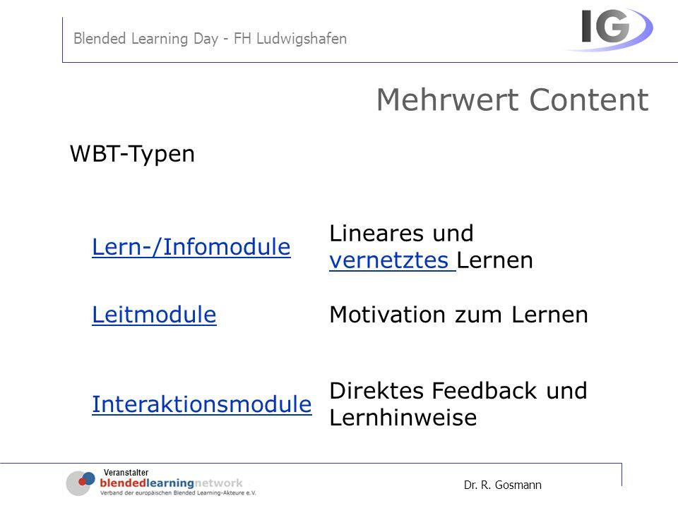 Mehrwert Content WBT-Typen Lineares und vernetztes Lernen