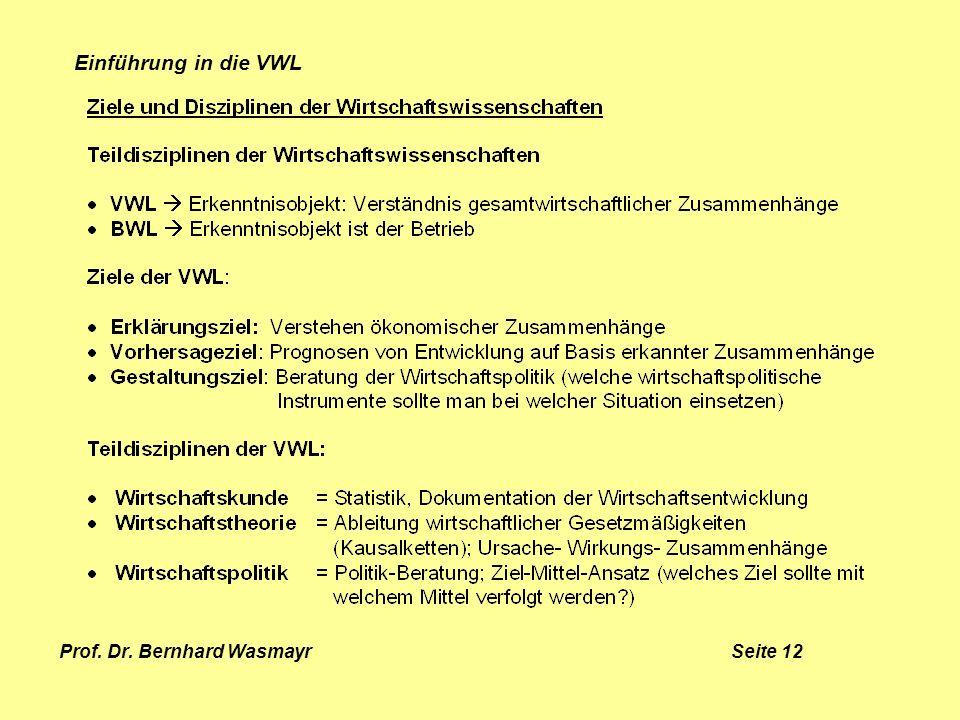 Prof. Dr. Bernhard Wasmayr Seite 12