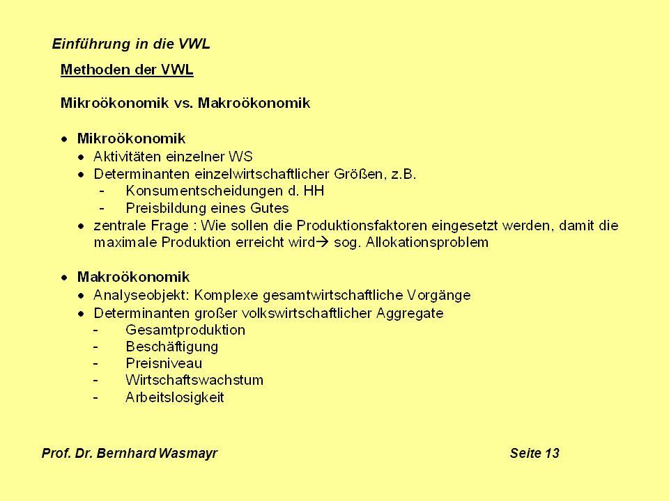 Prof. Dr. Bernhard Wasmayr Seite 13
