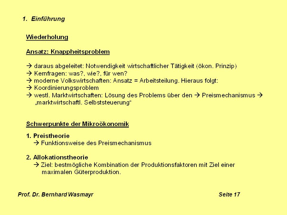 Prof. Dr. Bernhard Wasmayr Seite 17