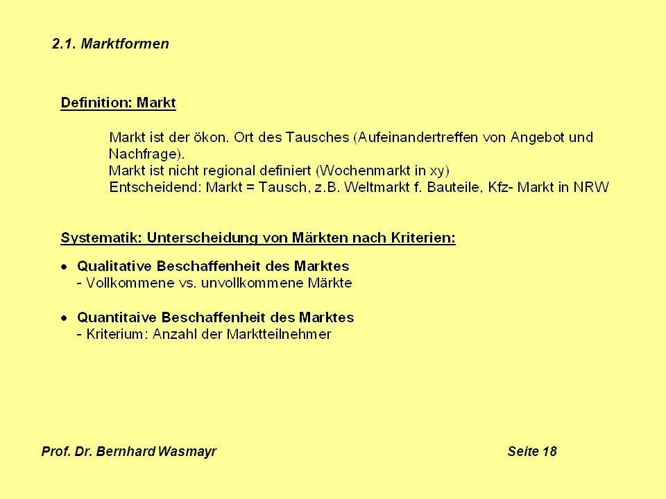 Prof. Dr. Bernhard Wasmayr Seite 18