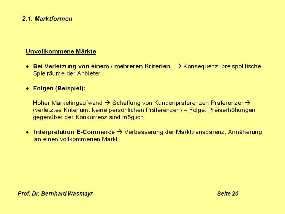 Prof. Dr. Bernhard Wasmayr Seite 20