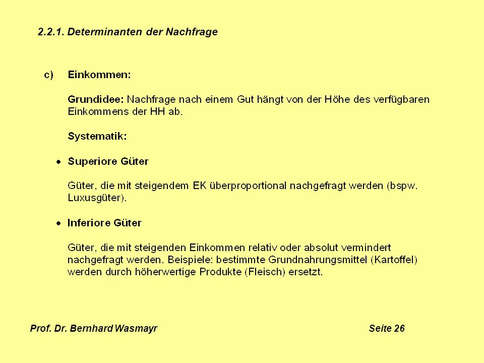 Prof. Dr. Bernhard Wasmayr Seite 26
