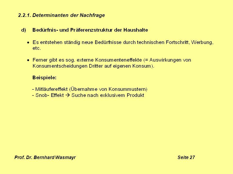 Prof. Dr. Bernhard Wasmayr Seite 27
