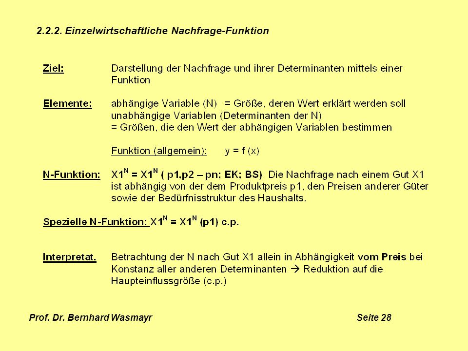 Prof. Dr. Bernhard Wasmayr Seite 28