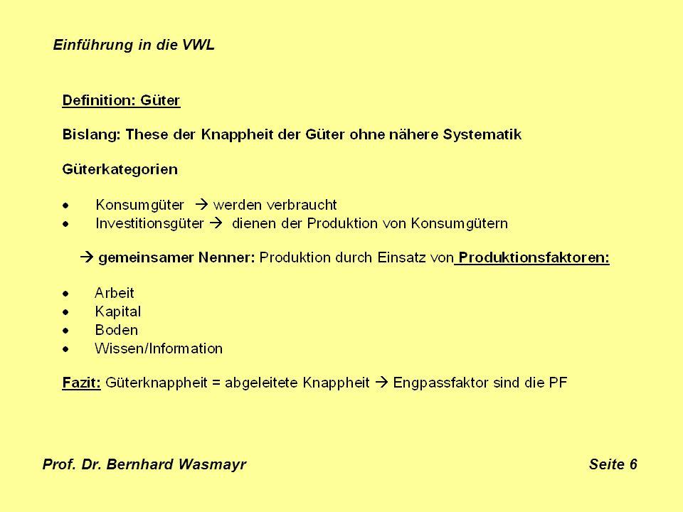 Prof. Dr. Bernhard Wasmayr Seite 6