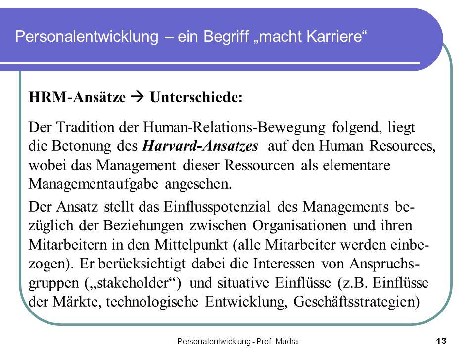 """Personalentwicklung – ein Begriff """"macht Karriere"""