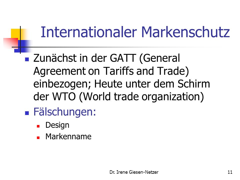 Internationaler Markenschutz
