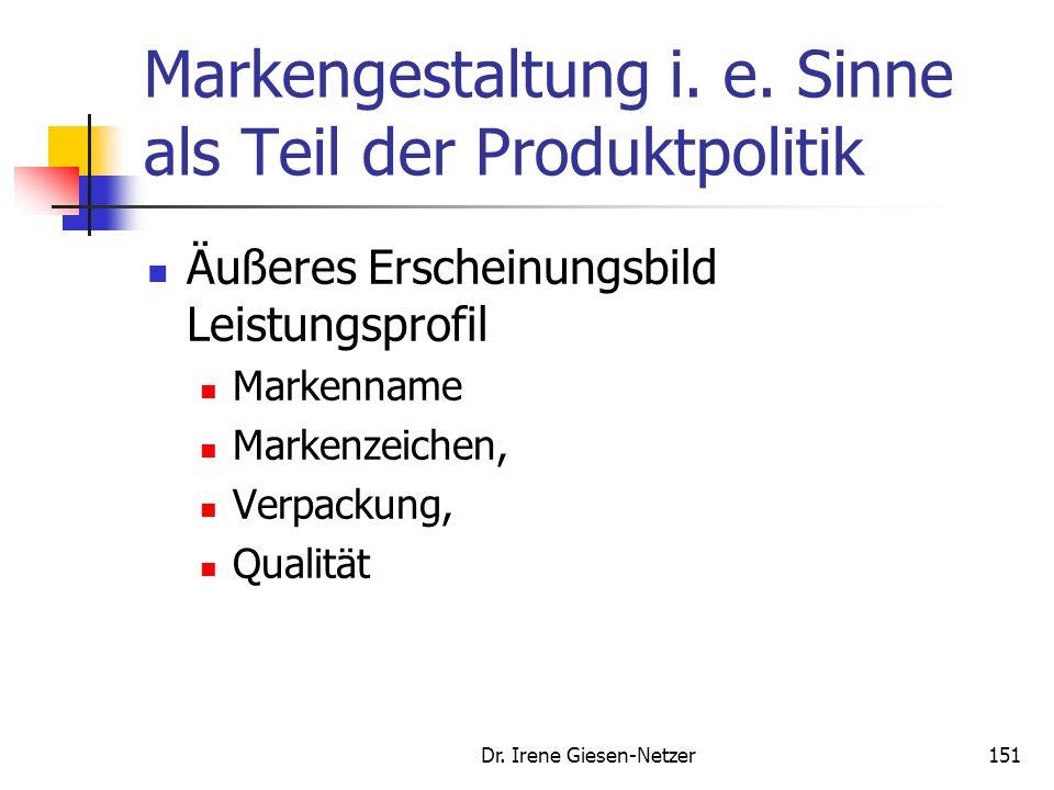 Markengestaltung i. e. Sinne als Teil der Produktpolitik