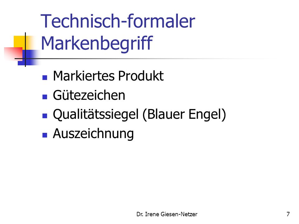 Technisch-formaler Markenbegriff