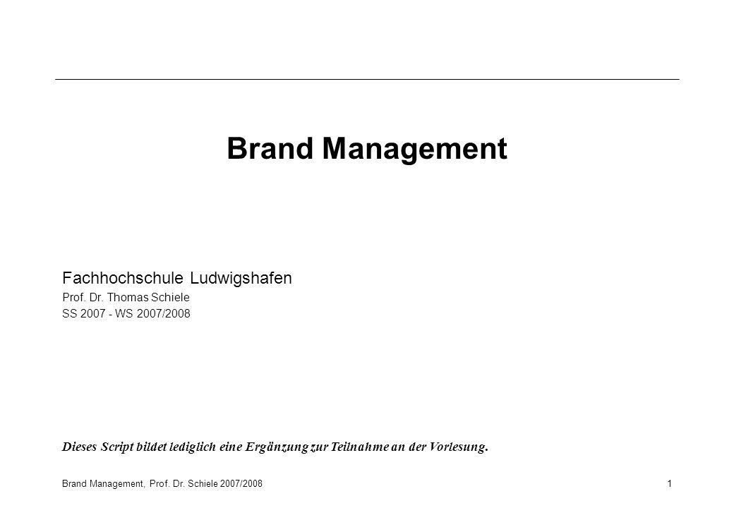 Brand Management Fachhochschule Ludwigshafen
