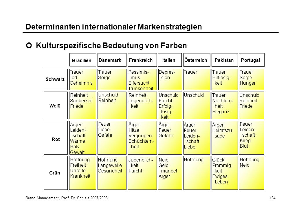 Determinanten internationaler Markenstrategien