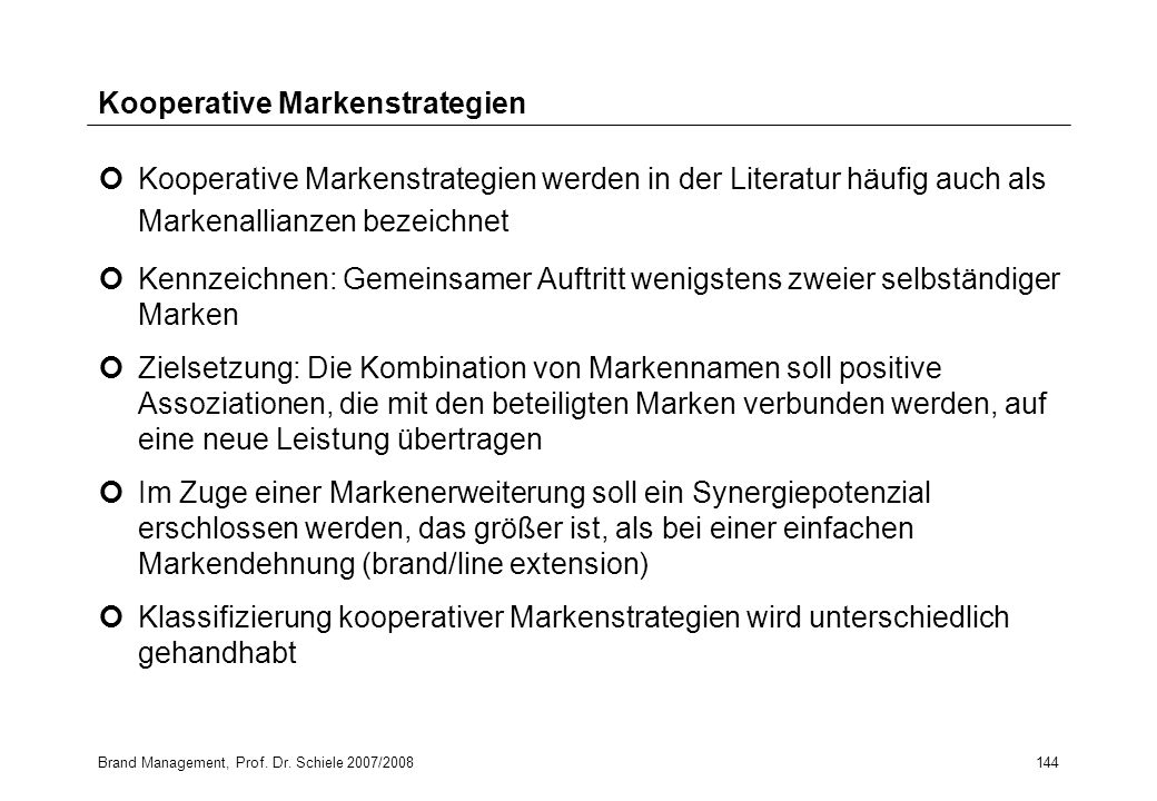 Kooperative Markenstrategien