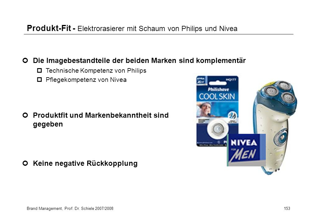 Produkt-Fit - Elektrorasierer mit Schaum von Philips und Nivea