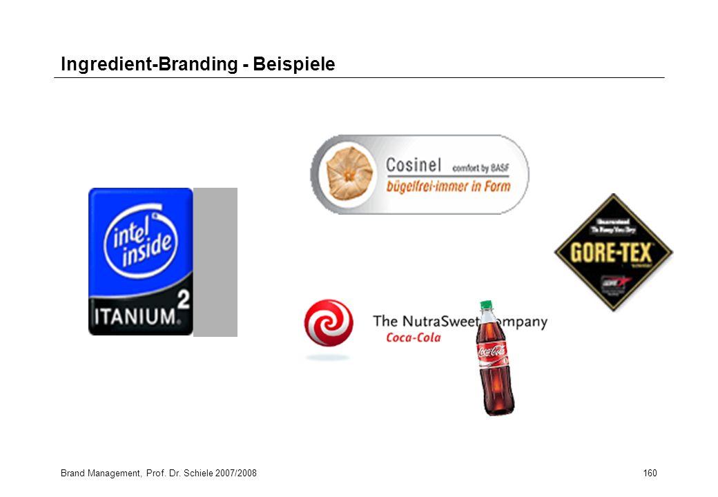 Ingredient-Branding - Beispiele
