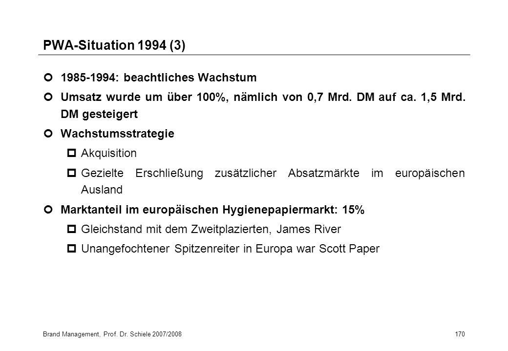 PWA-Situation 1994 (3) 1985-1994: beachtliches Wachstum