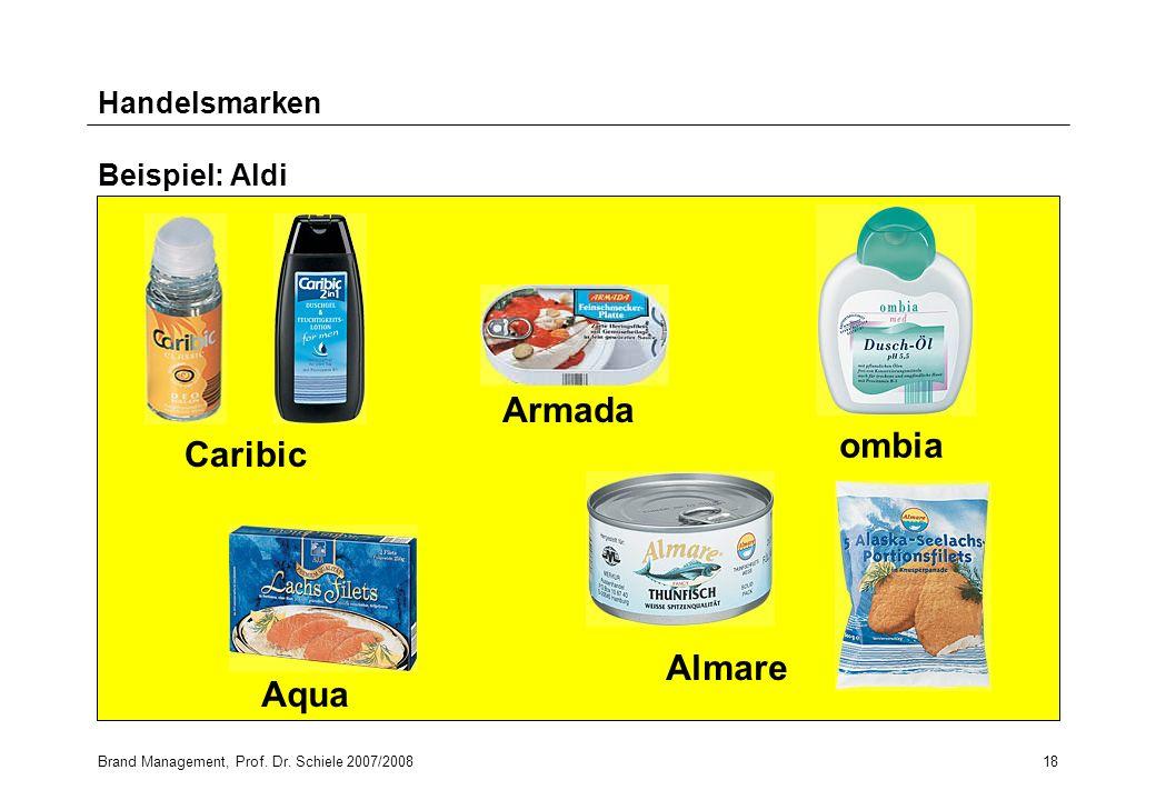 Armada ombia Caribic Almare Aqua Handelsmarken Beispiel: Aldi