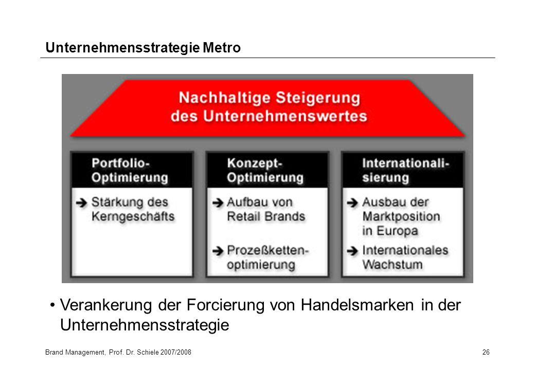 Unternehmensstrategie Metro