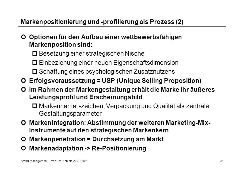 Markenpositionierung und -profilierung als Prozess (2)