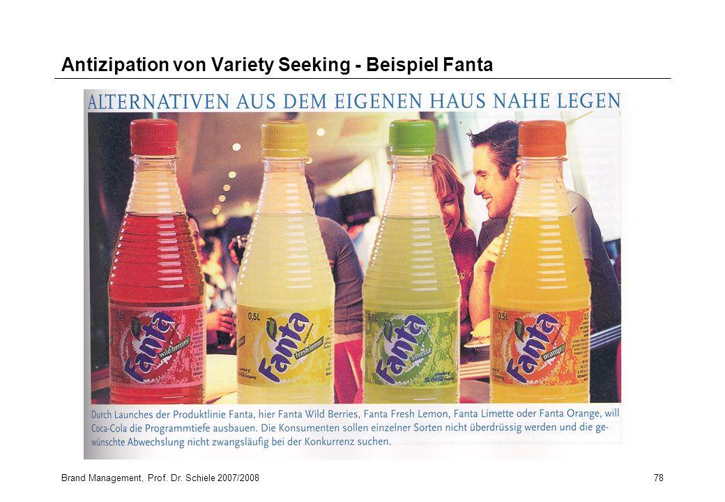 Antizipation von Variety Seeking - Beispiel Fanta