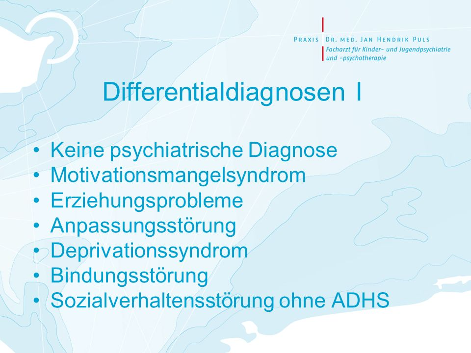 Differentialdiagnosen I