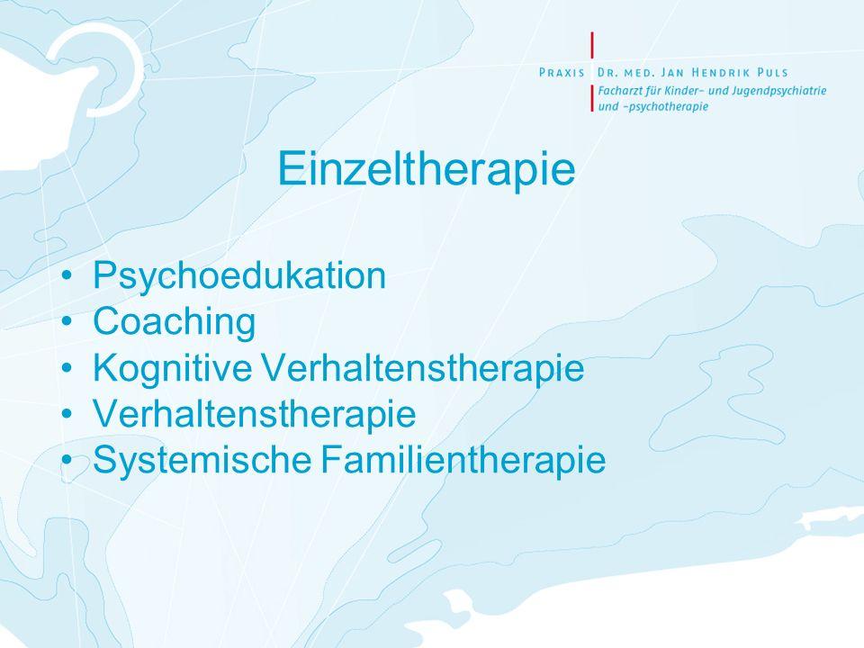 Einzeltherapie Psychoedukation Coaching Kognitive Verhaltenstherapie