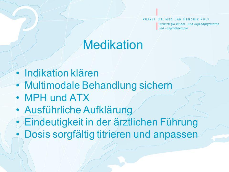 Medikation Indikation klären Multimodale Behandlung sichern