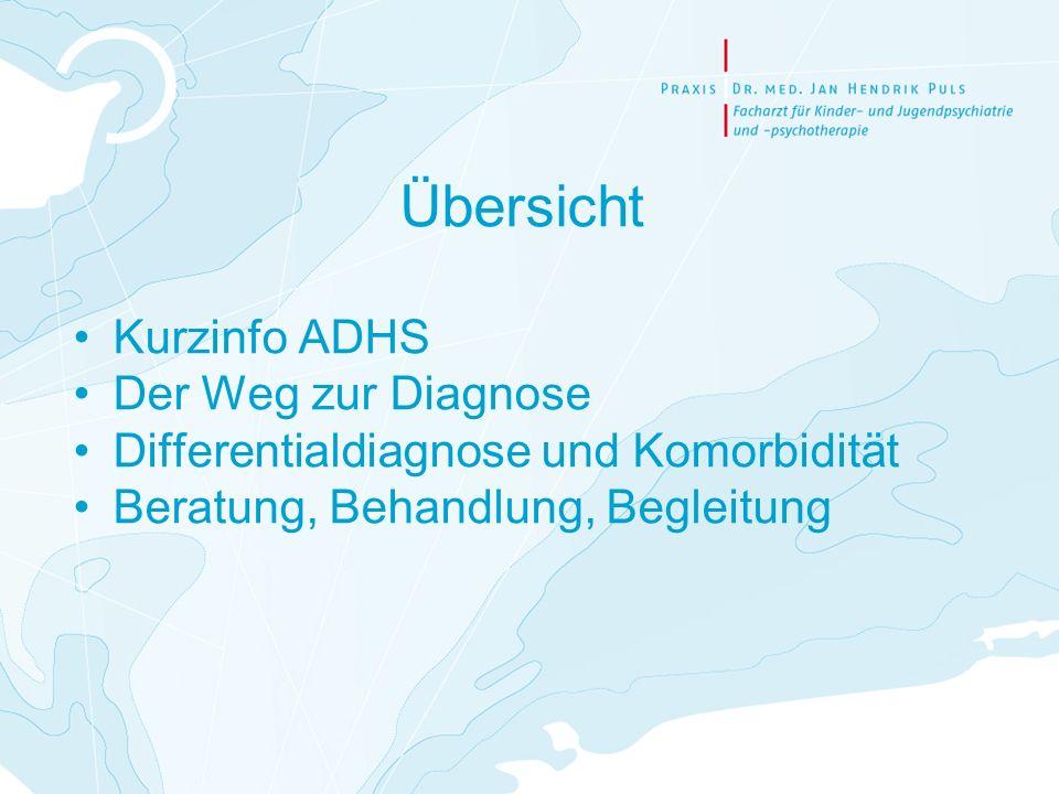 Übersicht Kurzinfo ADHS Der Weg zur Diagnose