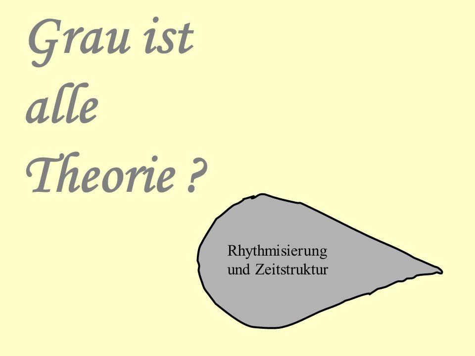 Grau ist alle Theorie Rhythmisierung und Zeitstruktur