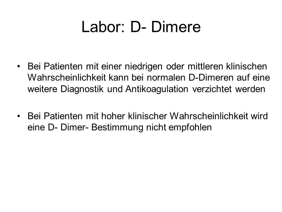 Labor: D- Dimere