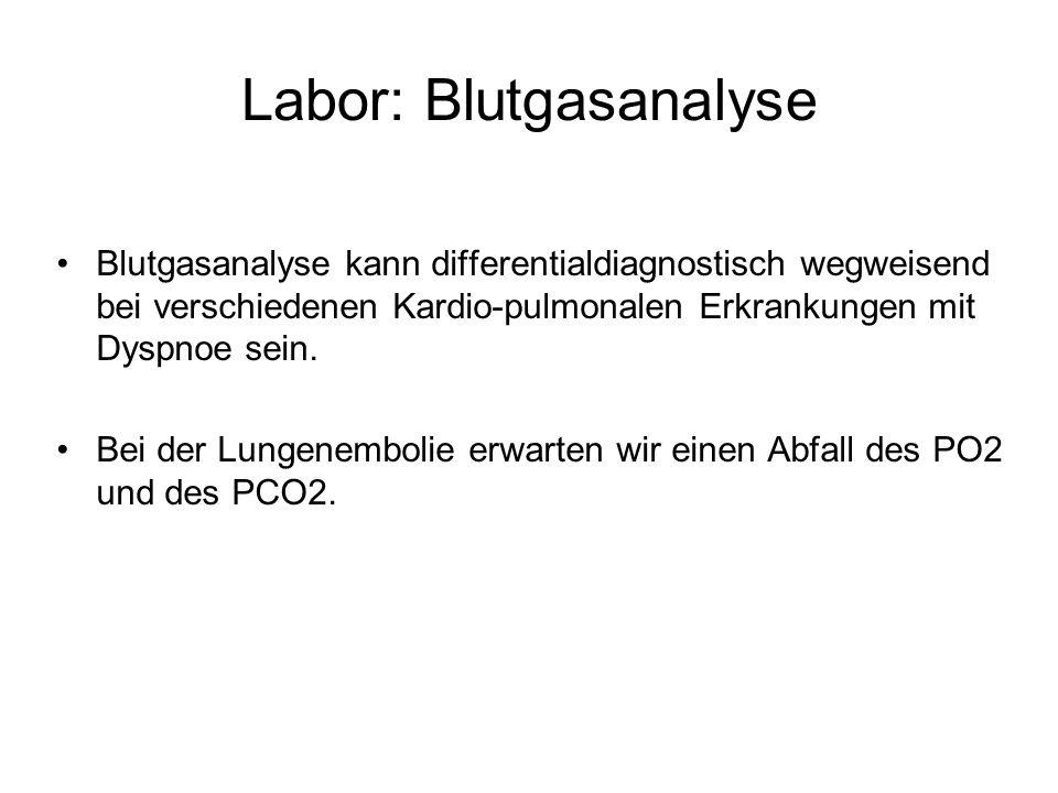 Labor: Blutgasanalyse