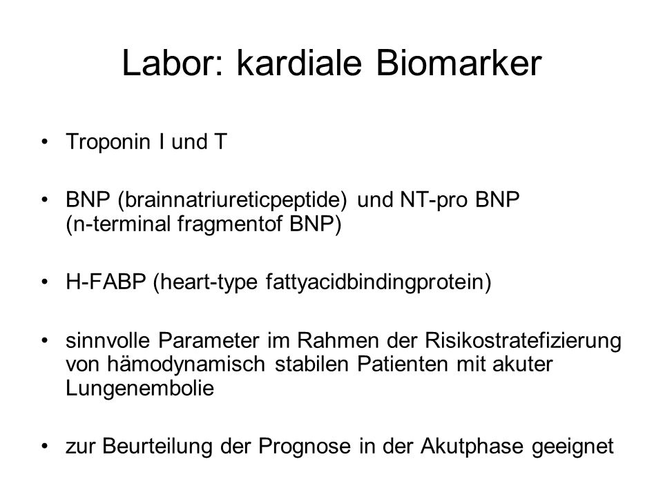 Labor: kardiale Biomarker