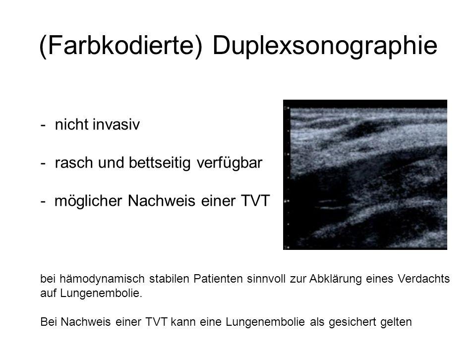 (Farbkodierte) Duplexsonographie