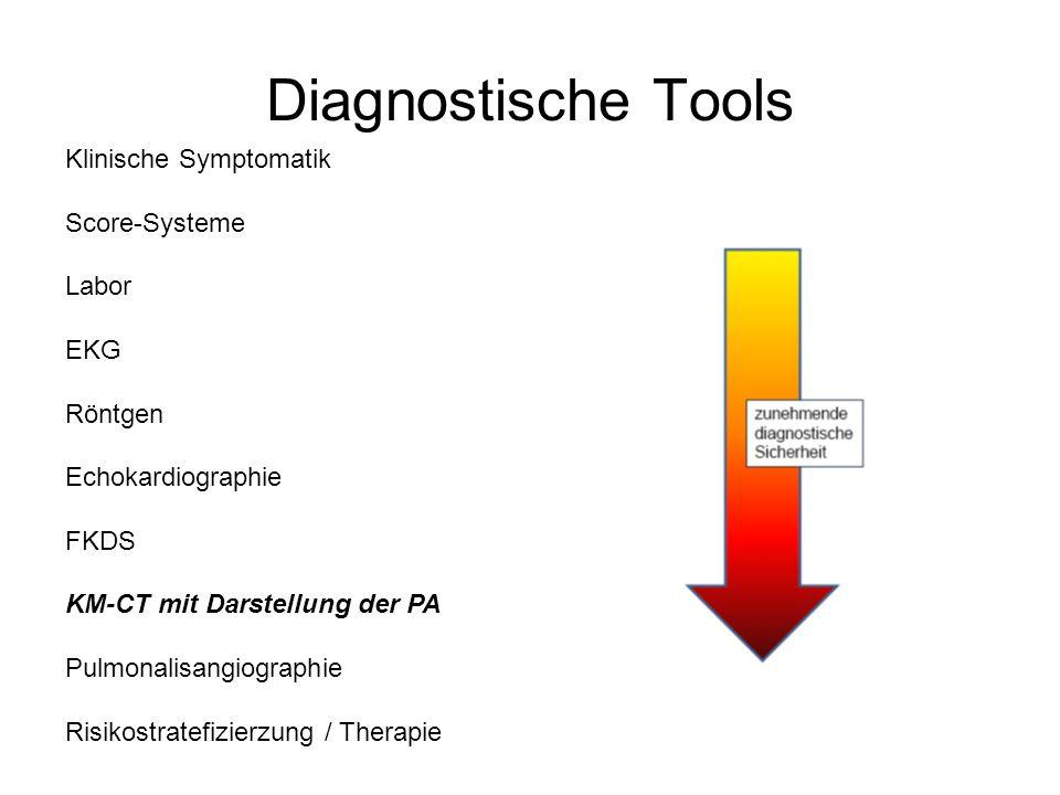 Diagnostische Tools Klinische Symptomatik Score-Systeme Labor EKG