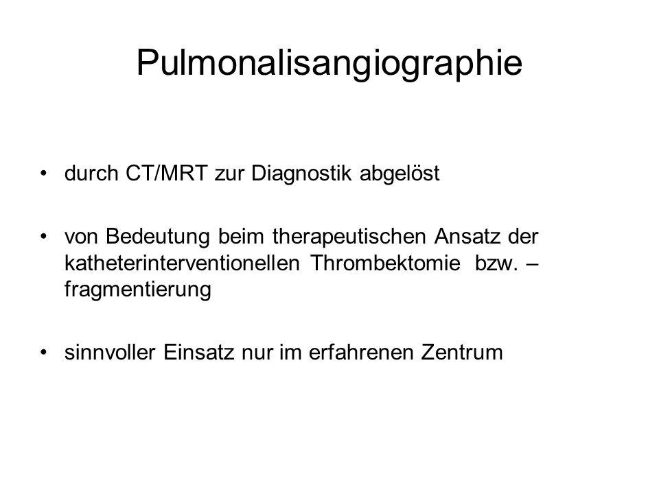 Pulmonalisangiographie