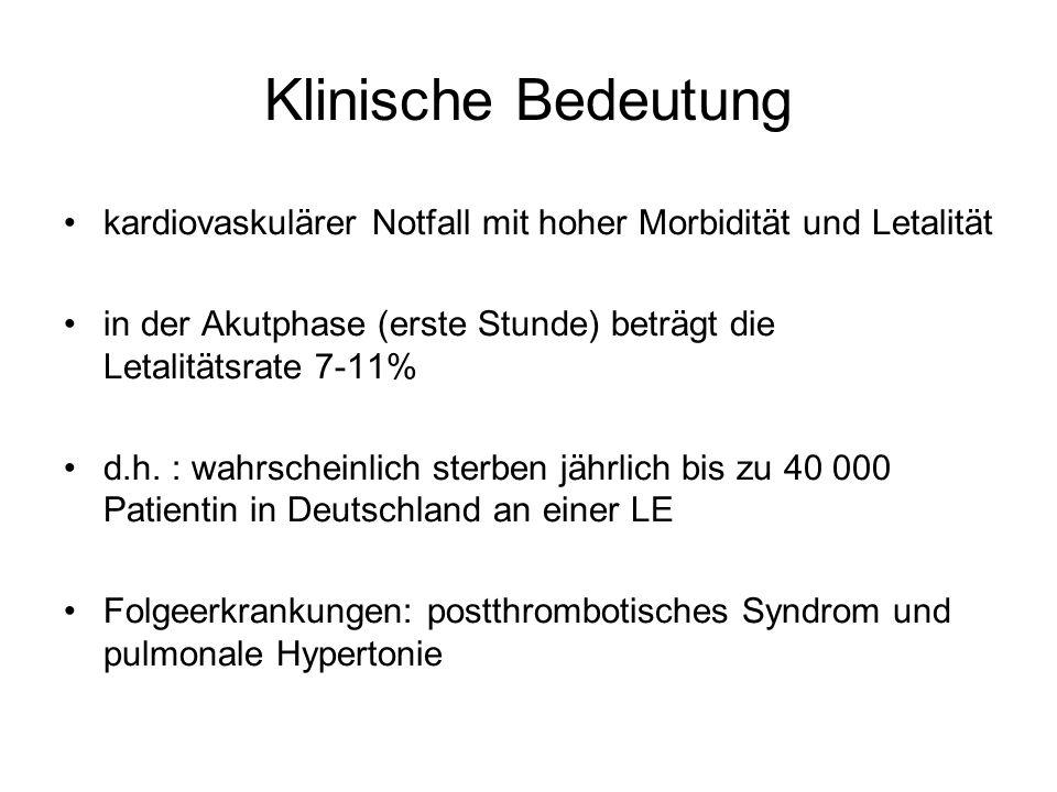 Klinische Bedeutung kardiovaskulärer Notfall mit hoher Morbidität und Letalität.