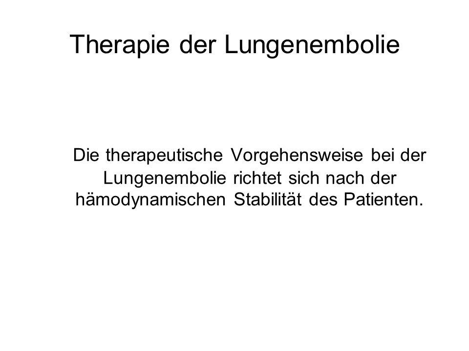 Therapie der Lungenembolie