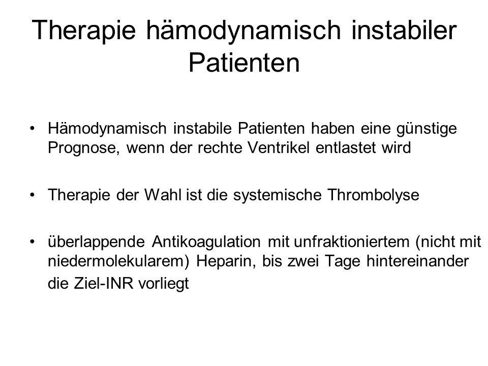 Therapie hämodynamisch instabiler Patienten